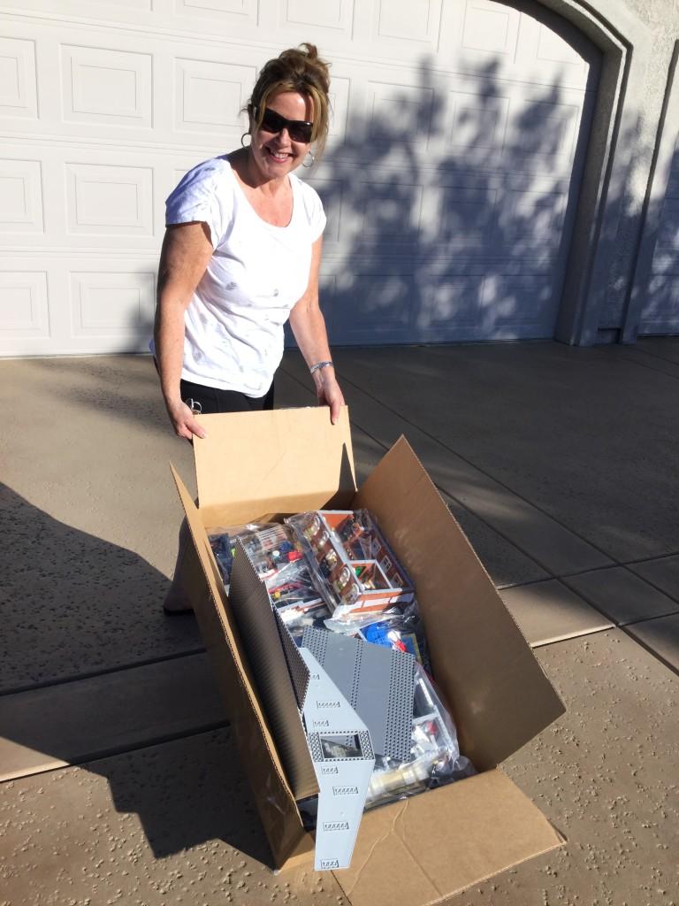 Catharine Lepper with Margaret Lepper's donation.