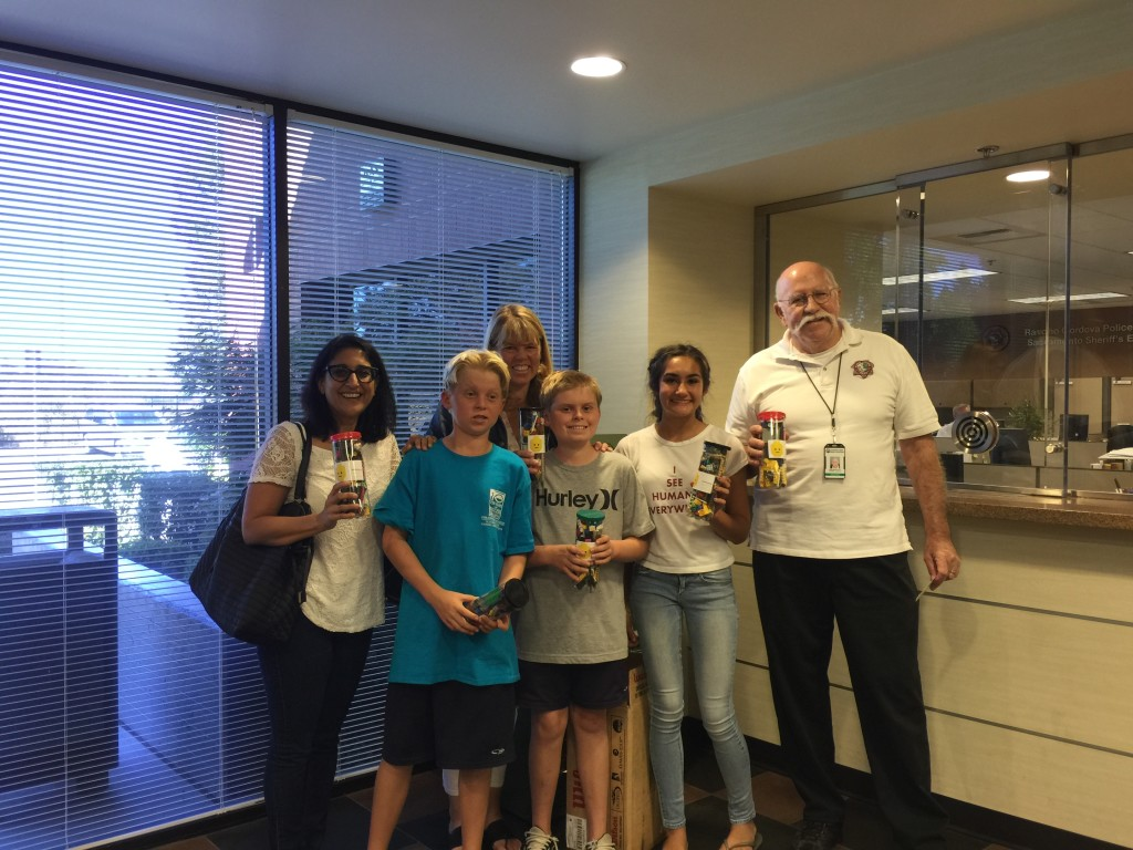 "Donation to Rancho Cordova PD.  With Bob McCulley (""Volunteer Bob""). 9/22/2015"